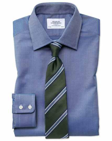 Extra slim fit Egyptian cotton royal Oxford royal blue shirt