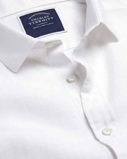 Hemd aus Leinen - Weiß