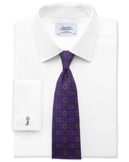Classic fit non-iron imperial weave white shirt