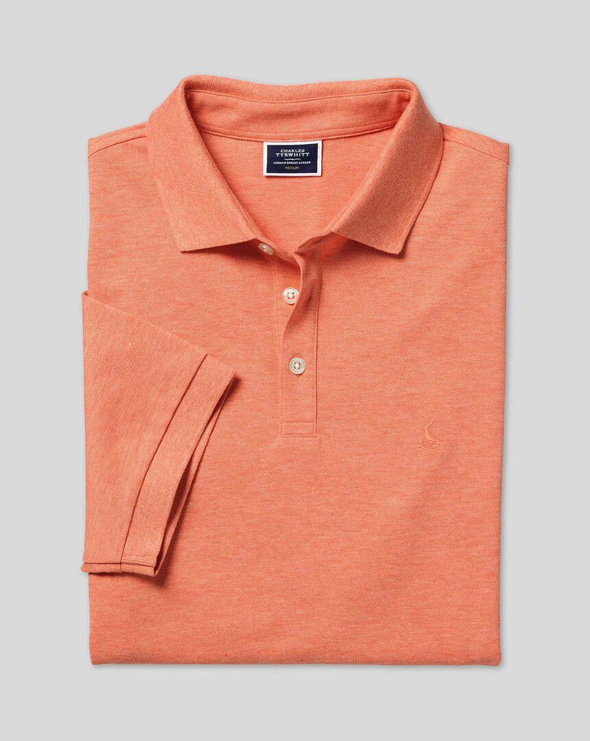 Tyrwhitt Pique Polo - Orange Marl
