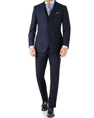 Blue stripe slim fit Panama business suit
