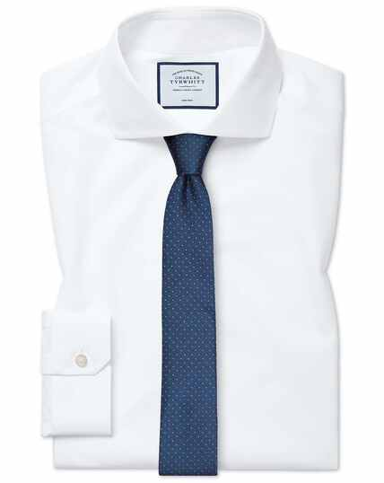 Super slim fit non-iron 4-way stretch white shirt