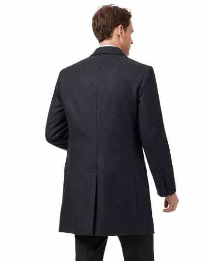 Charcoal Italian wool and cashmere Epsom overcoat