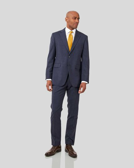 Crosshatch Suit - Airforce Blue