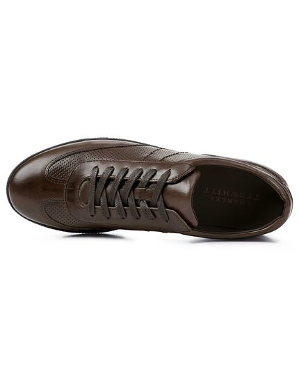 Brown smart trainers