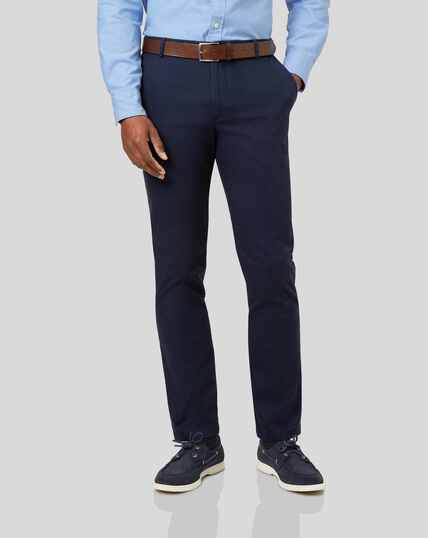 Textured Chinos - Navy