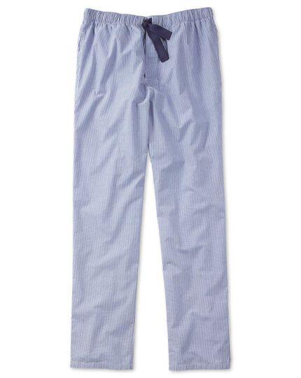 Blue and white stripe lightweight pyjama trousers
