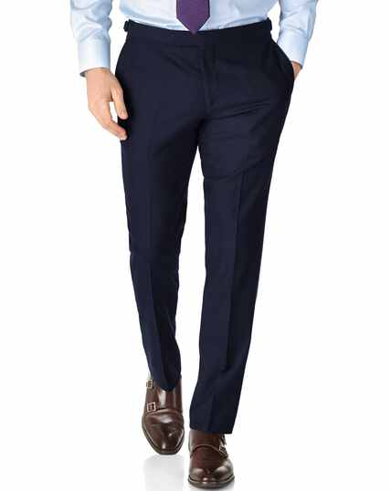 Slim Fit Serge Luxus Anzug Hose in Marineblau
