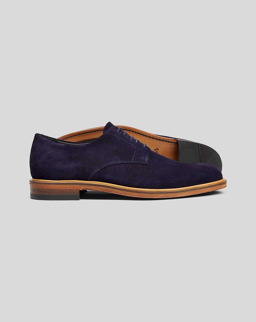 Suede Derby Shoe - Blue