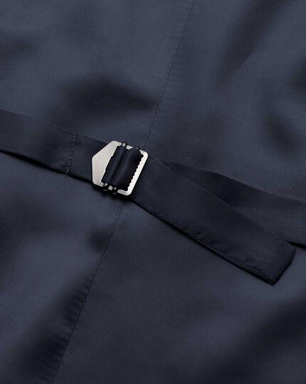 Light blue adjustable fit herringbone business suit waistcoat