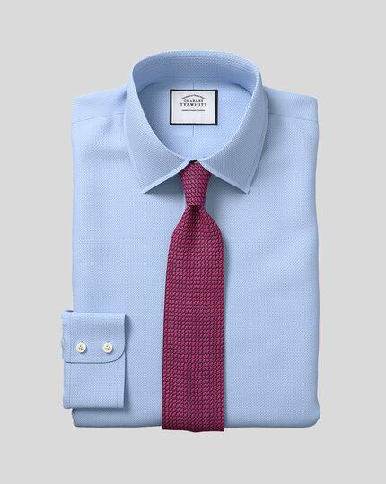 Hemd mit Zickzackmuster und Kent-Kragen - Blau