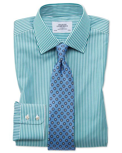 Classic fit Bengal stripe green shirt