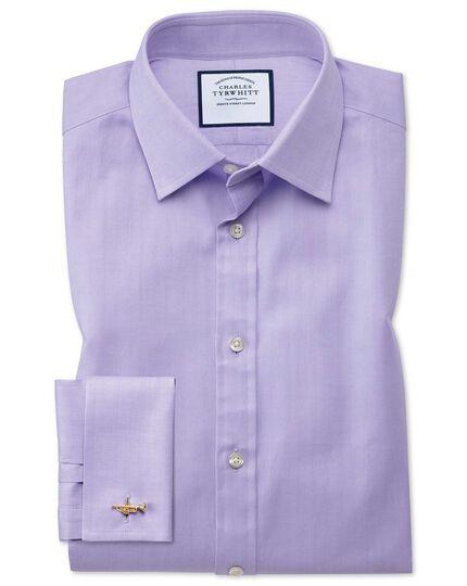 Chemise à chevrons fins - Lilas