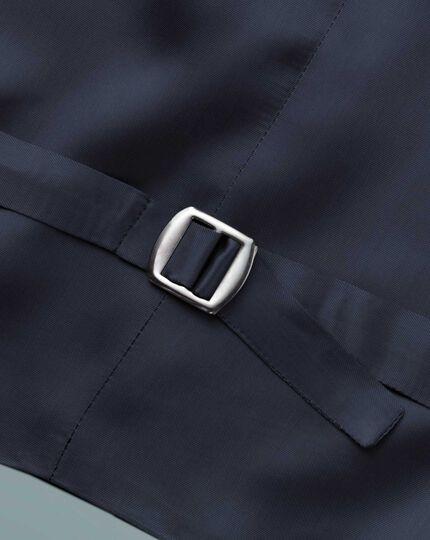 Verstellbare britische Anzugweste Panamagewebe in Blau