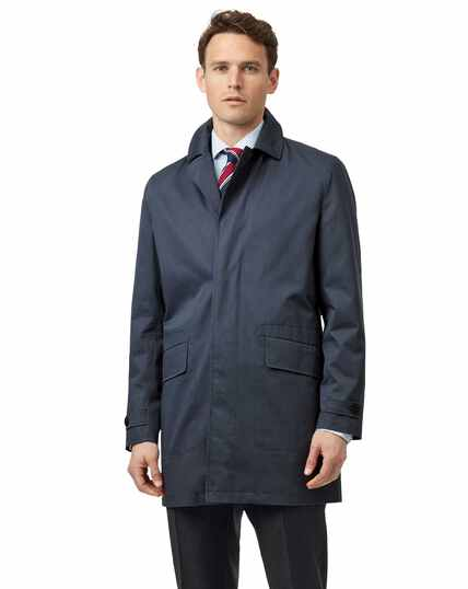 Airforce blue Italian raincoat