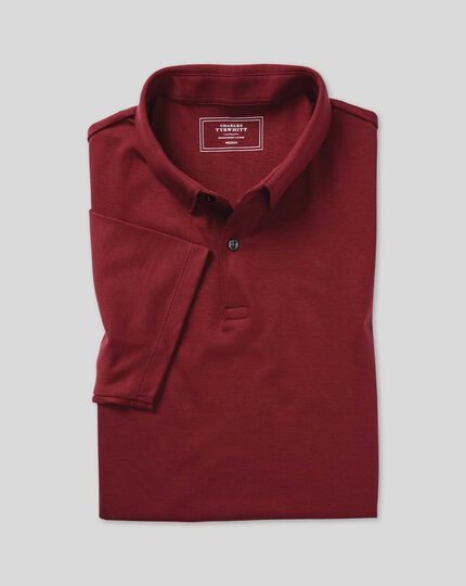 Polo Smart en jersey - Rouge