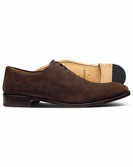Brown suede wholecut shoes