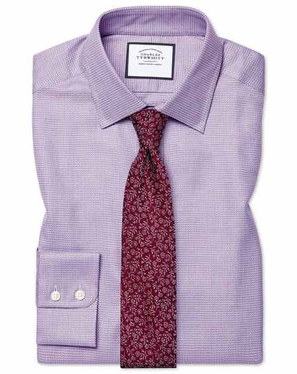 Classic fit Egyptian cotton chevron purple shirt