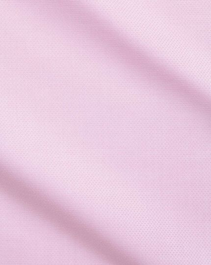 Extra slim fit Egyptian cotton trellis weave pink shirt