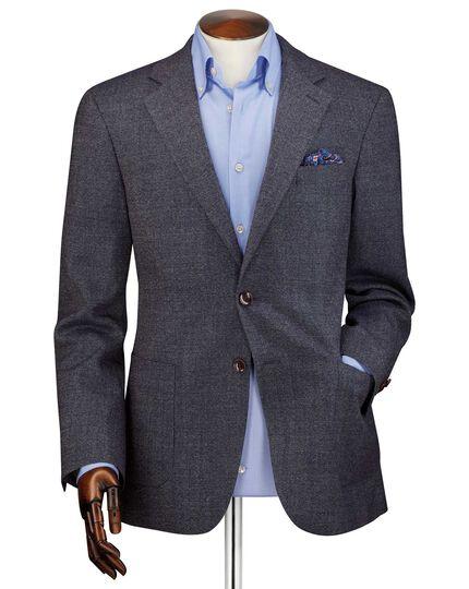 Veste bleu marine en flanelle coupe droite
