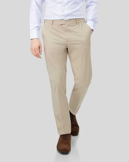 Pantalon chino sans repassage - Gris clair