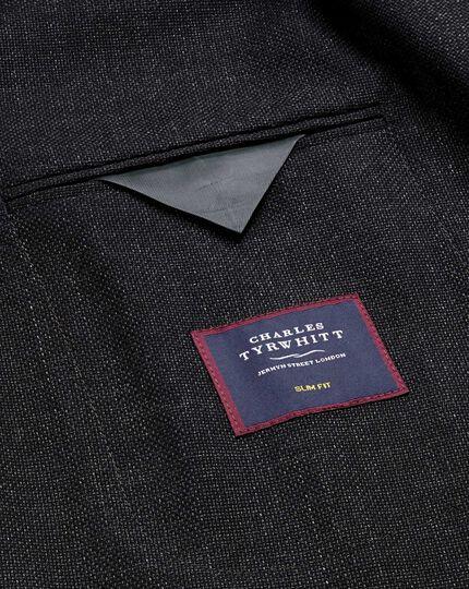 Slim Fit blazer aus italienischer Wolle in Anthrazit