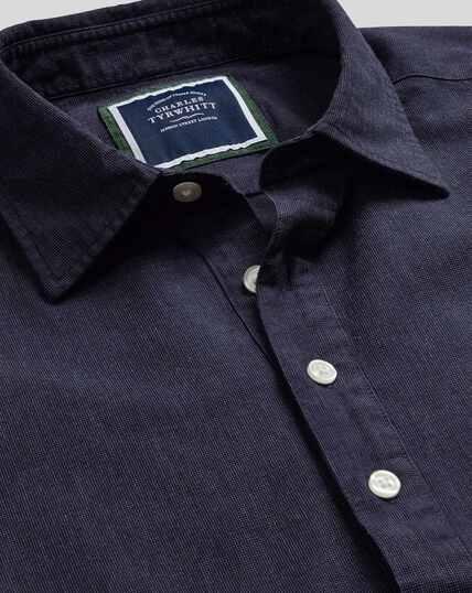 Classic Collar Artist Shirt - Navy
