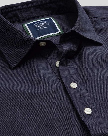 Classic Collar Artist Shirt - Navy