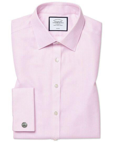 Bügelfreies Super Slim Fit Hemd aus Dash-Gewebe in Rosa