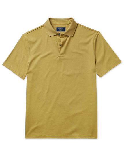 Polo chartreuse en tissu Aircool