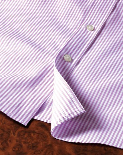 Slim fit bengal stripe lilac shirt