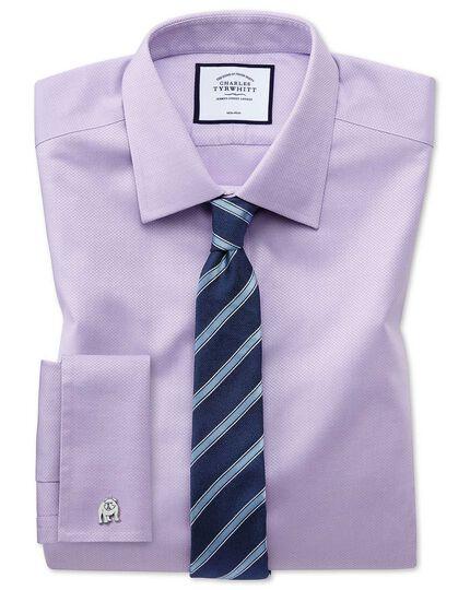 Navy and sky blue stripe slim tie