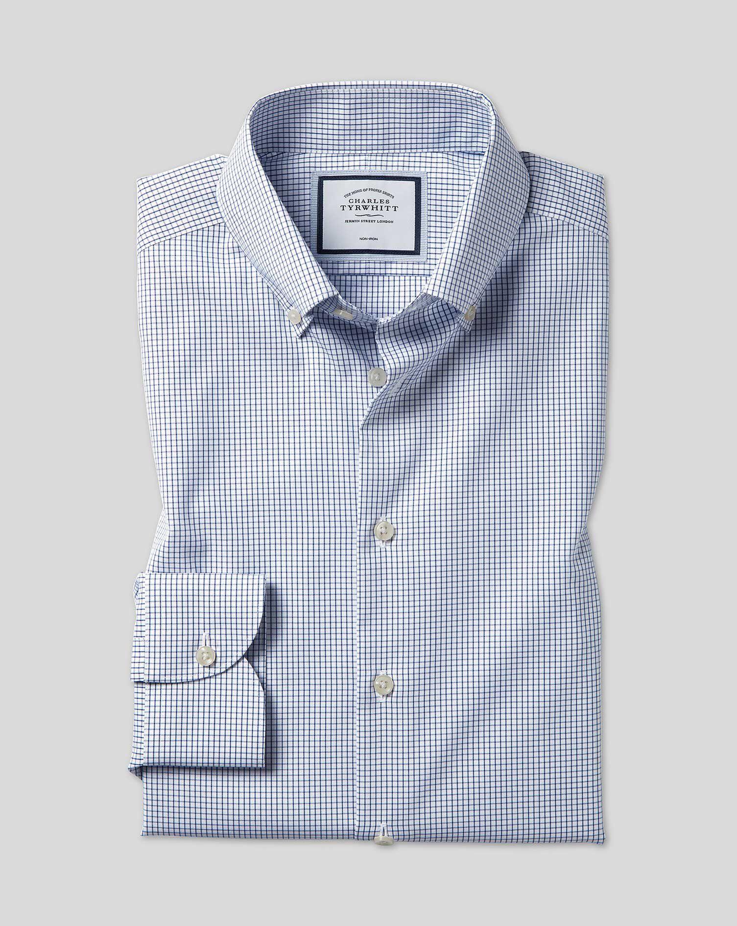 "Charles Tyrwhitt NON IRON SLIM FIT 16.5/"" Collar 42/"" Chest COTTON White Shirt"