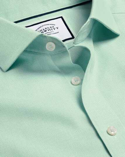 Cutaway Collar Non-Iron Ludgate Weave Shirt - Green