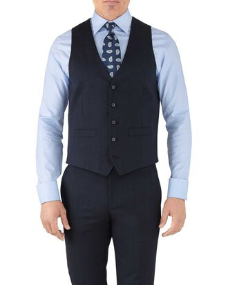 Navy adjustable fit hairline business suit vest