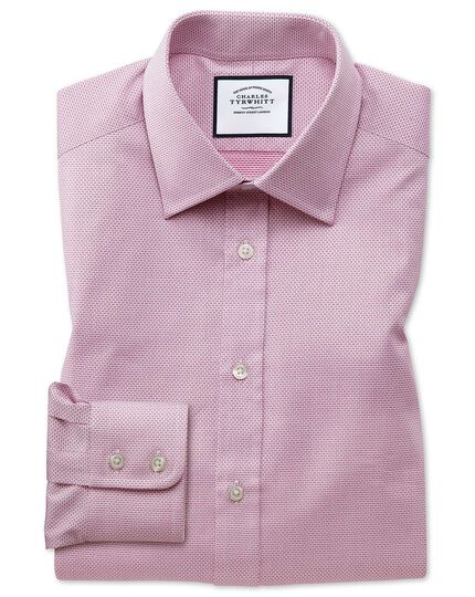 Classic fit magenta cube weave Egyptian cotton shirt