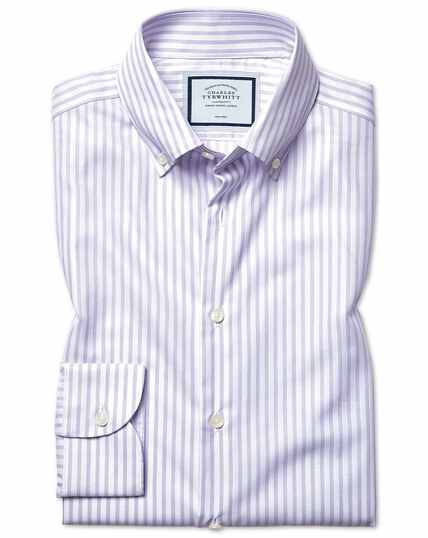 Chemise business casual lilas extra slim fit à carreaux et Tencel™ sans repassage