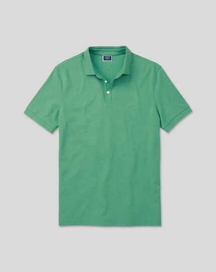 Tyrwhitt Pique Polo - Bright Green Marl