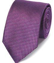 Cravate classique violette en soie