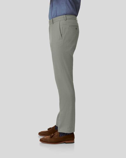 Non-Iron Stretch Pants - Olive