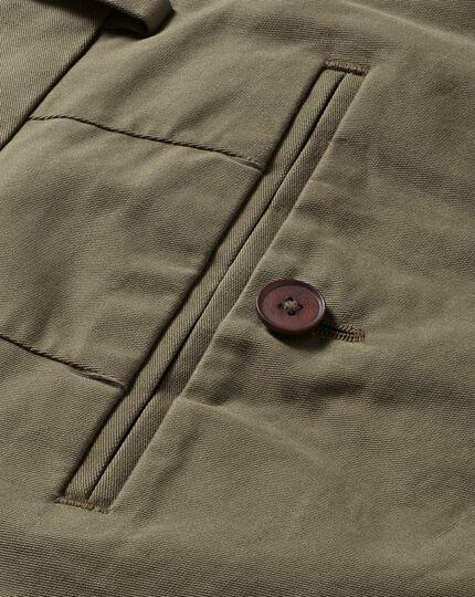 Slim Fit Stretch chino Hose in Khaki