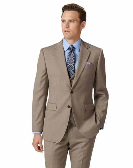 Fawn slim fit twill business suit jacket