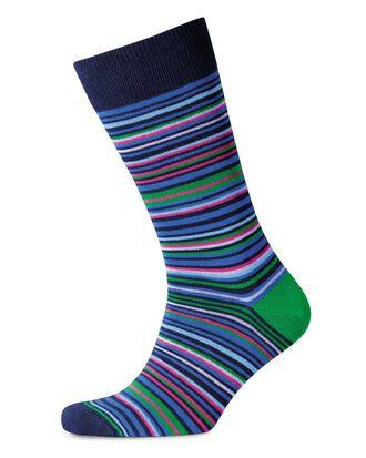 Chaussettes à rayures multicolores