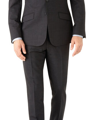 Charcoal slim fit performance suit