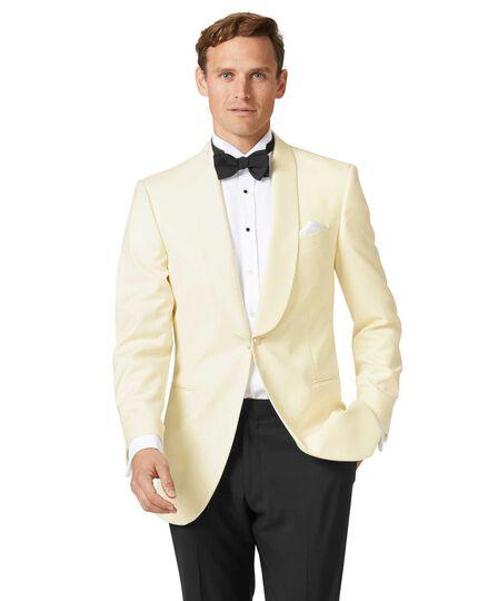 da383eeefc2 Cream slim fit shawl collar tuxedo jacket