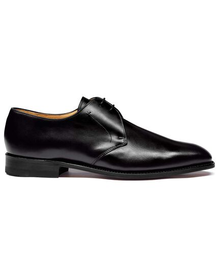 Black Goodyear welted 2 eyelet Derby shoes