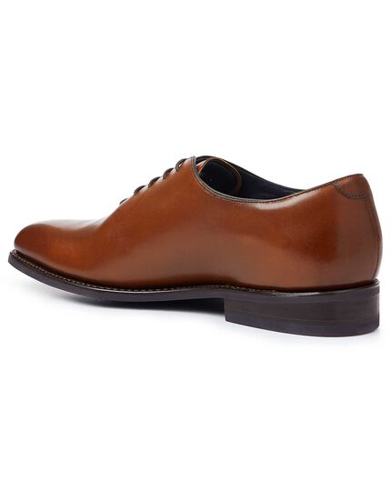 Brown Goodyear welted wholecut performance shoes