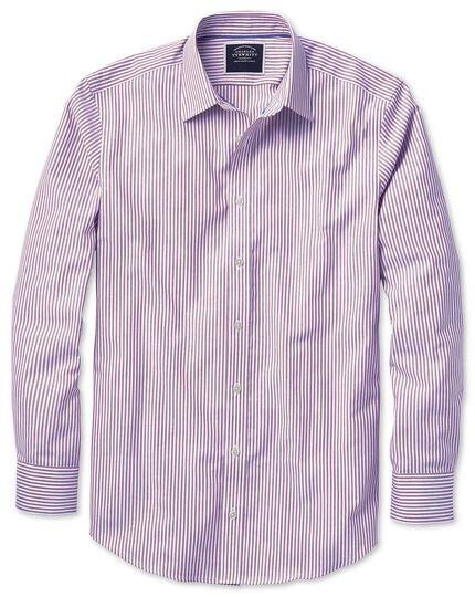 Bügelfreies Classic Fit Oxfordhemd mit Bengal-Streifen in Violett