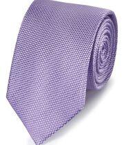 Klassische Krawatte Seide Einfarbig in Violett