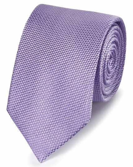 Cravate classique violette unie en soie